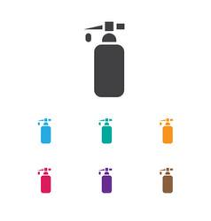 Of coiffeur symbol on gel icon vector
