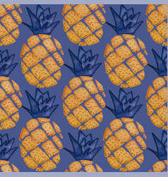 Pineapple seamless pattern repeat tile vector
