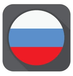 - russia flag button round shape with long s vector