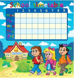 School timetable composition 5 vector