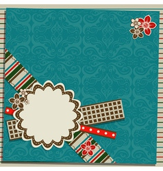 Scrapbook greeting card vector