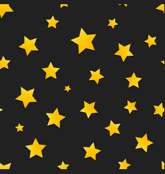 seamless background with yellow stars vector image