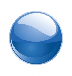 Shiny sphere 02 blue vector