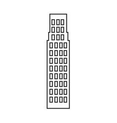 Silhouette of building skyscraper icon vector