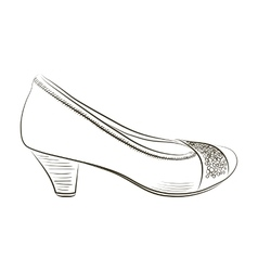 Sketch of women shoe - vector image