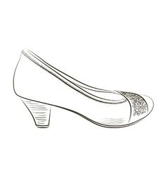 Sketch of women shoe vector image