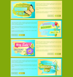spring discount new offer set vector image