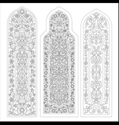 Stained glass windows on white vector