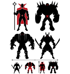 Supervillain Silhouette vector