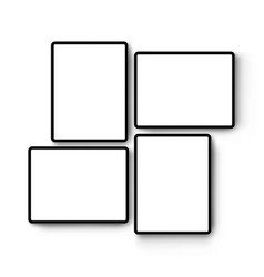 Tablets with horizontal and vertical screens vector