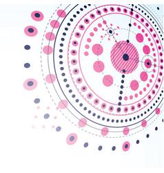 technical plan magenta abstract engineering draft vector image