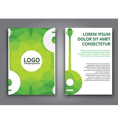 Template music polygonal brochure vector