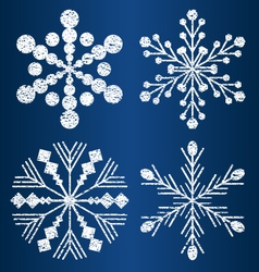 Textured snowflakes 2 vector