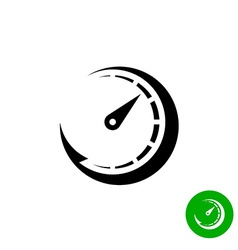 Timer black icon Scale indicator fast growth Speed vector
