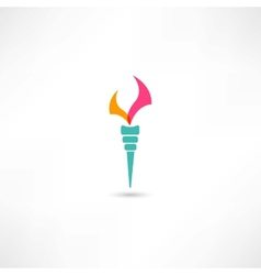 torch symbol vector image
