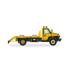 tow truck commercial vehicles service equipment vector image