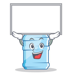 Up board gallon character cartoon style vector