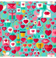 Valentine day blue seamless pattern vector