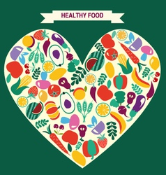 VEGETARIAN symbol Healthy Food icons vector image
