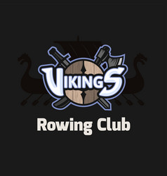 Vikings sport logo emblem for rowing club vector