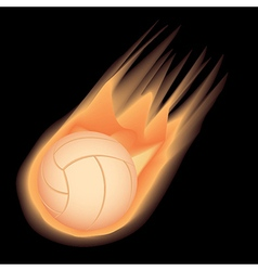 volleyball-fire vector image