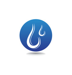water drop logo template design vector image