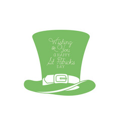 Wishing you a happy st patricks day with vector