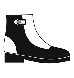Woman boots icon simple vector