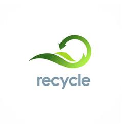eco recycle arrow logo vector image