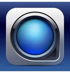 metallic glossy power button vector image vector image