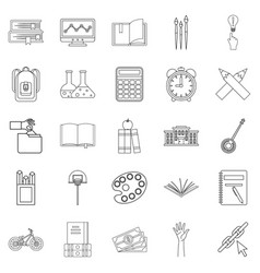scholastic degree icons set outline style vector image vector image