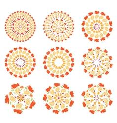 set of autumn mandalas vector image