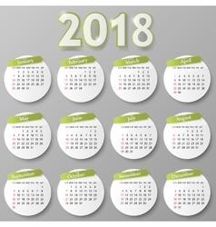 Year calendar design vector image
