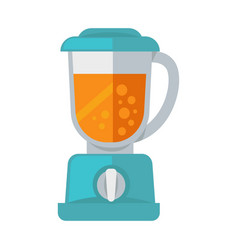 blue mixer with cocktail vector image