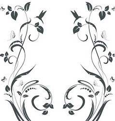 elegant floral swirl frame for your design vector image