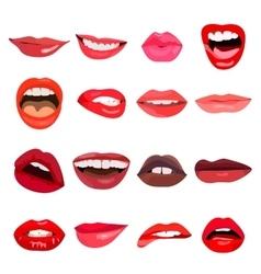 Lips set Lip design element vector image