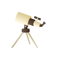 Telescope icon in cartoon style vector image