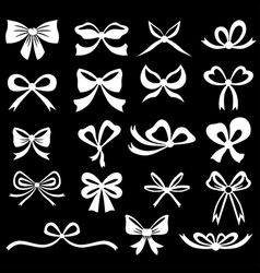 bow set white vector image vector image