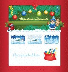 Christmas gift shop template vector image
