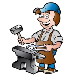 Happy Blacksmith Worker vector image vector image