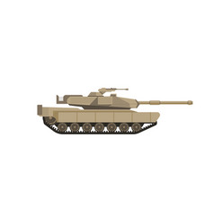 Massive military tank with big cannon isolated vector