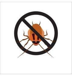 Redhead cockroach vector