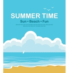 beach and summer holidays vector image vector image