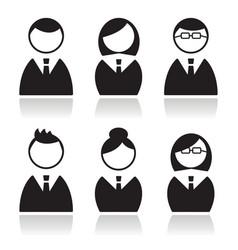 Business people icons set avatars vector image