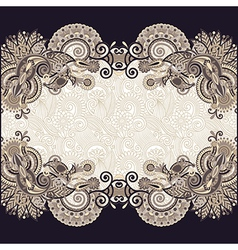 floral vintage template vector image vector image