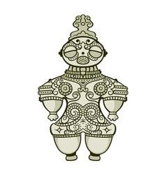 Jomon Dogu figurine vector image vector image