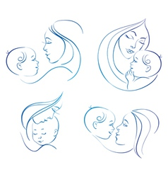 Mother with baby vector image vector image