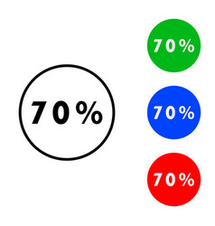 seventy percent icon vector image