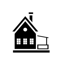 Small wooden house icon simple style vector image