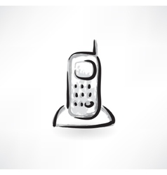 telephone grunge icon vector image vector image